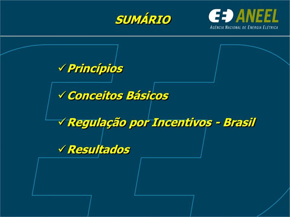 SUMÁRIO Princípios Conceitos Básicos Regulação por Incentivos - Brasil Resultados Princípios Conceitos Básicos Regulação por Incentivos - Brasil Resul