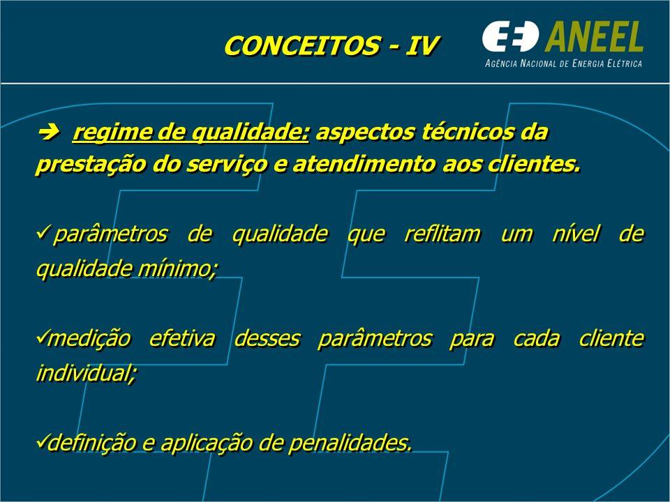 regime de qualidade: aspectos técnicos da prestação do serviço e atendimento aos clientes. parâmetros de qualidade que reflitam um nível de qualidade