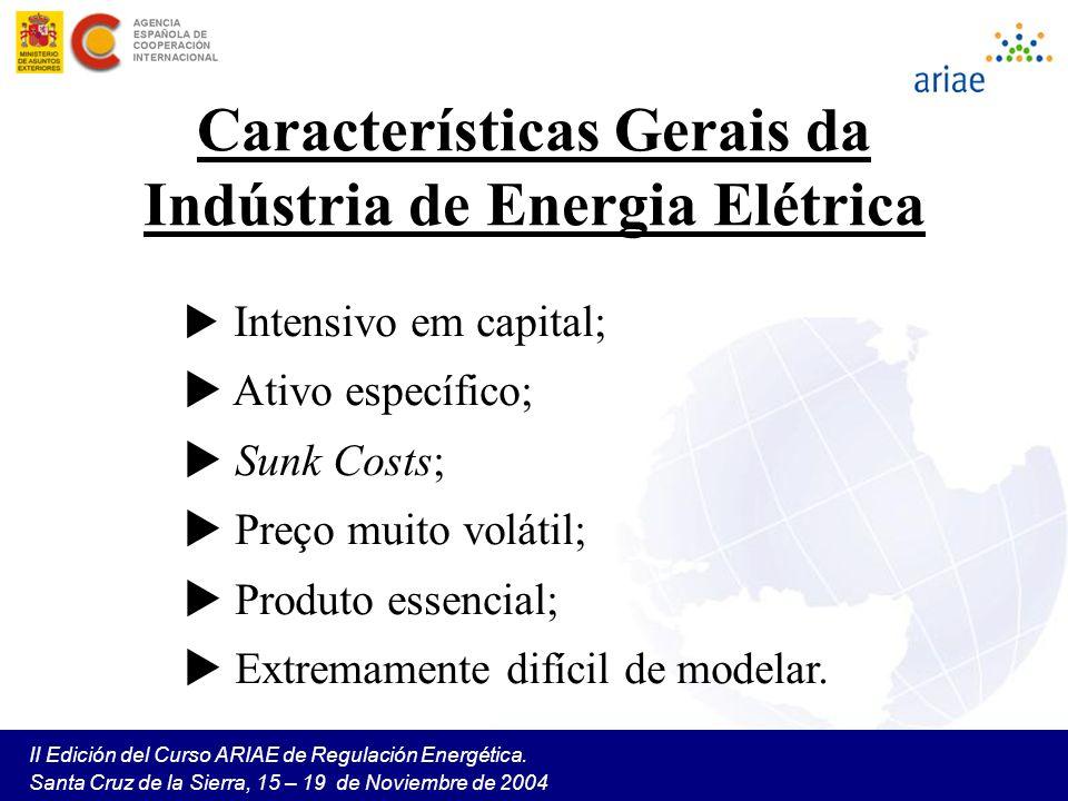 II Edición del Curso ARIAE de Regulación Energética. Santa Cruz de la Sierra, 15 – 19 de Noviembre de 2004 Intensivo em capital; Ativo específico; Sun