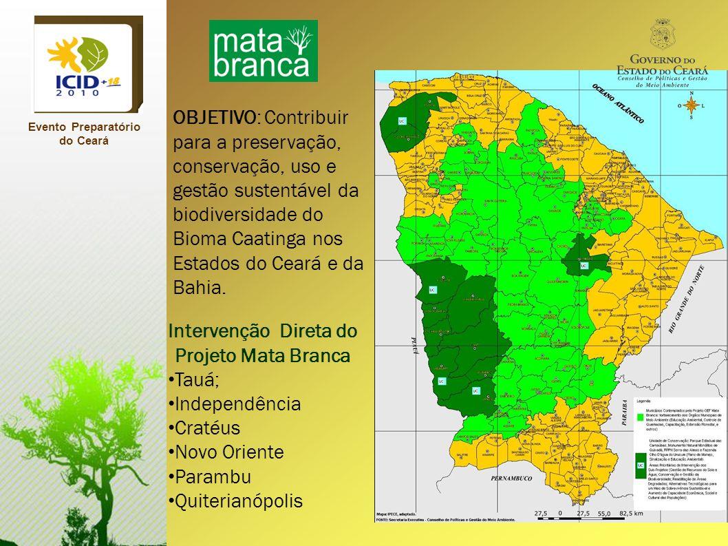 OBJETIVO: Contribuir para a preservação, conservação, uso e gestão sustentável da biodiversidade do Bioma Caatinga nos Estados do Ceará e da Bahia. In