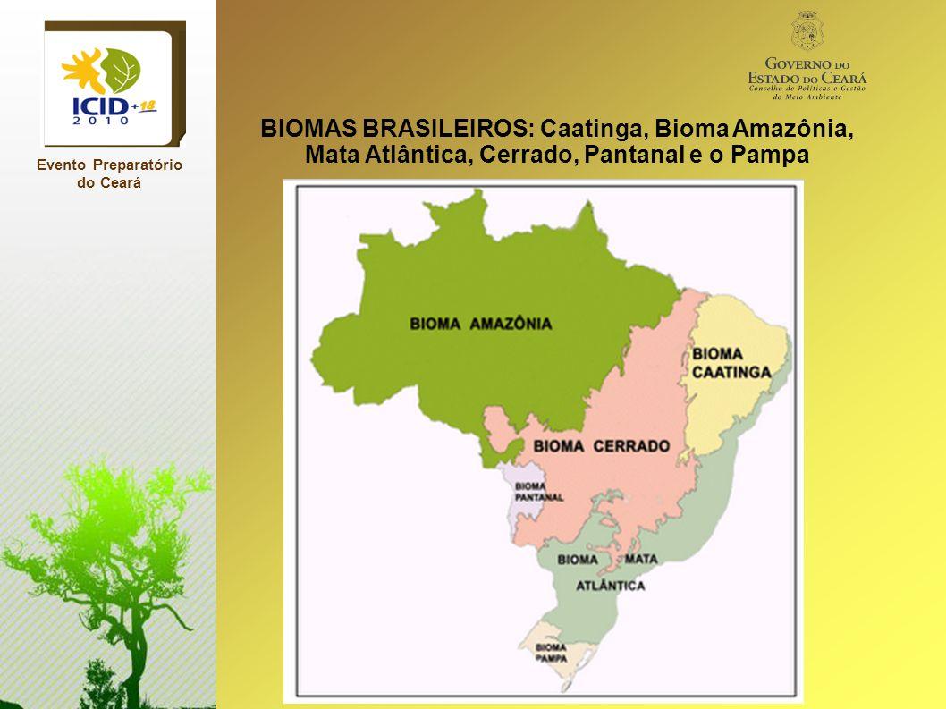 Evento Preparatório do Ceará BIOMAS BRASILEIROS: Caatinga, Bioma Amazônia, Mata Atlântica, Cerrado, Pantanal e o Pampa