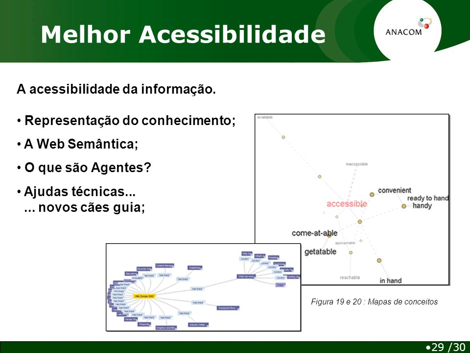 Melhor Acessibilidade A acessibilidade da informação.