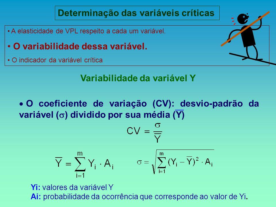 Variabilidade da variável Y O coeficiente de variação (CV): desvio-padrão da variável ( ) dividido por sua média (Y) ): Yi: valores da variável Y Ai: