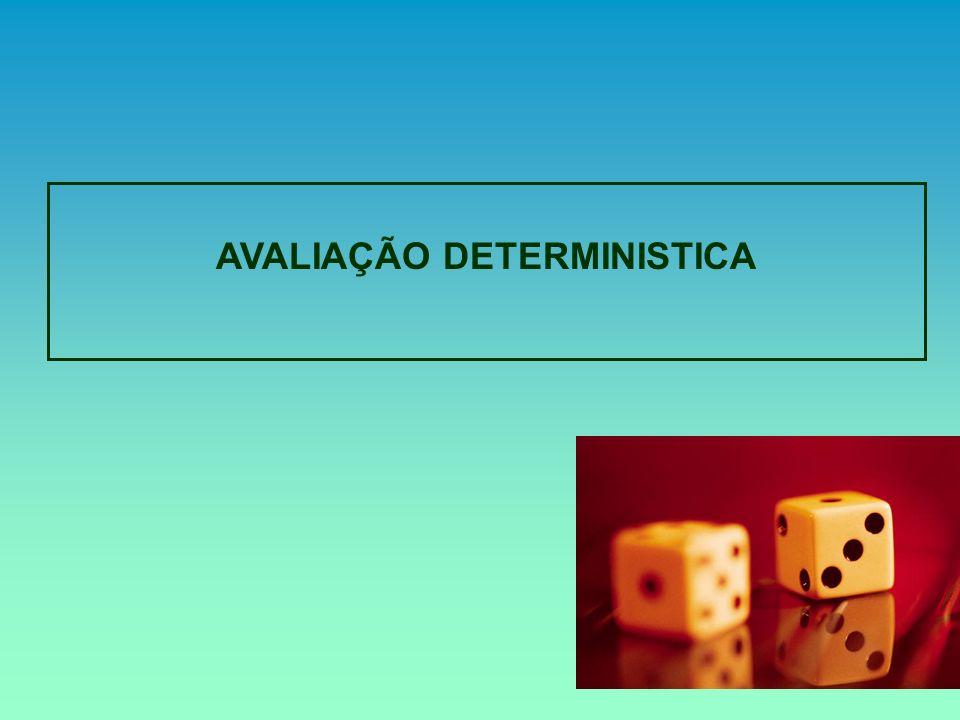AVALIAÇÃO DETERMINISTICA