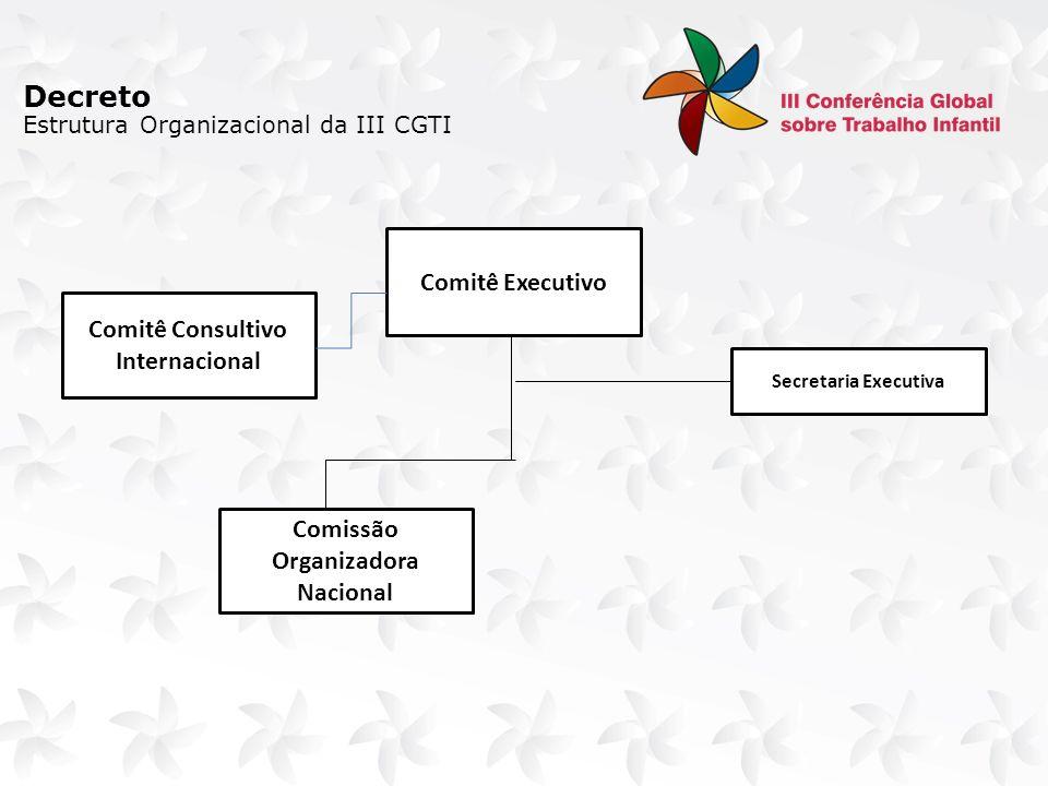 Formação de Rede de Mobilização Internacional, com adoção das seguintes estratégias, complementares e sinérgicas: Mobilização dos governos, coordenada pelo MRE, em contato com as missões diplomáticas dos países e nas instâncias temáticas dos fóruns multilaterais, tais como: G20, UNASUL, OEA, MERCOSUL, ASPA, BRICS, IBAS, UNIÃO EUROPÉIA, CPLP, PALOP, CARICOM, outros.
