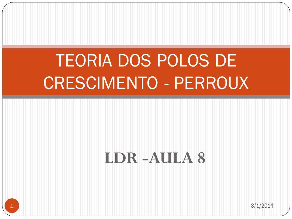 LDR -AULA 8 8/1/2014 1 TEORIA DOS POLOS DE CRESCIMENTO - PERROUX