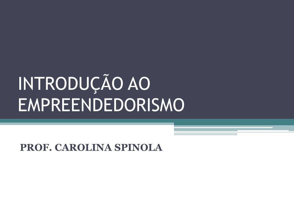 INTRODUÇÃO AO EMPREENDEDORISMO PROF. CAROLINA SPINOLA