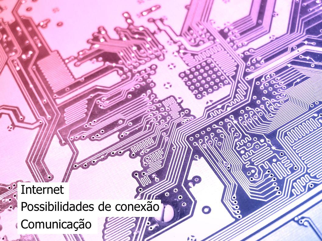 Internet Possibilidades de conexão Comunicação