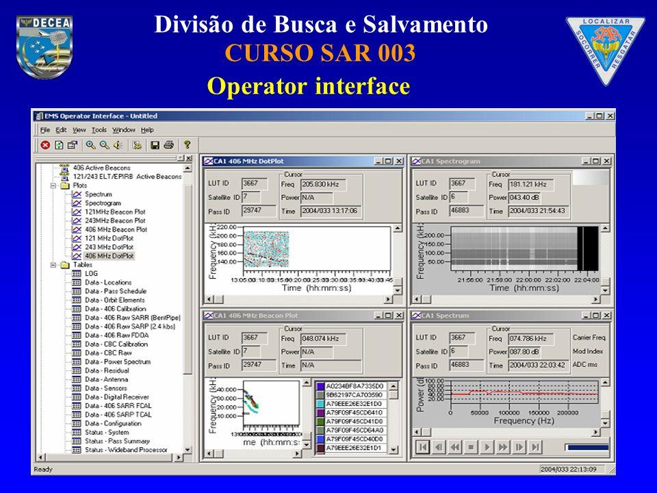 Divisão de Busca e Salvamento CURSO SAR 003 Operator interface