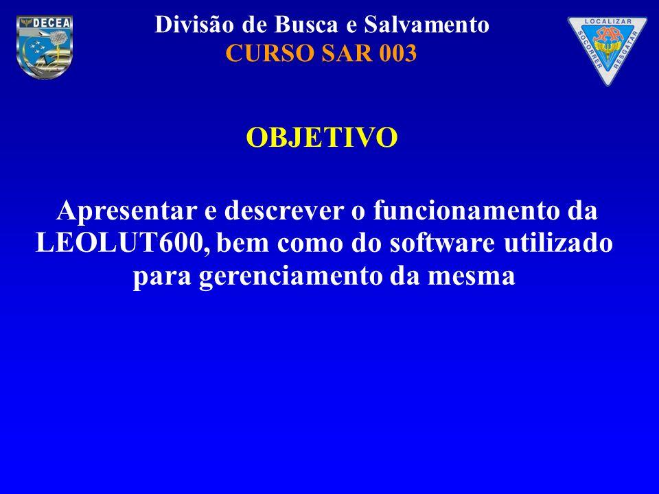 OBJETIVO Apresentar e descrever o funcionamento da LEOLUT600, bem como do software utilizado para gerenciamento da mesma