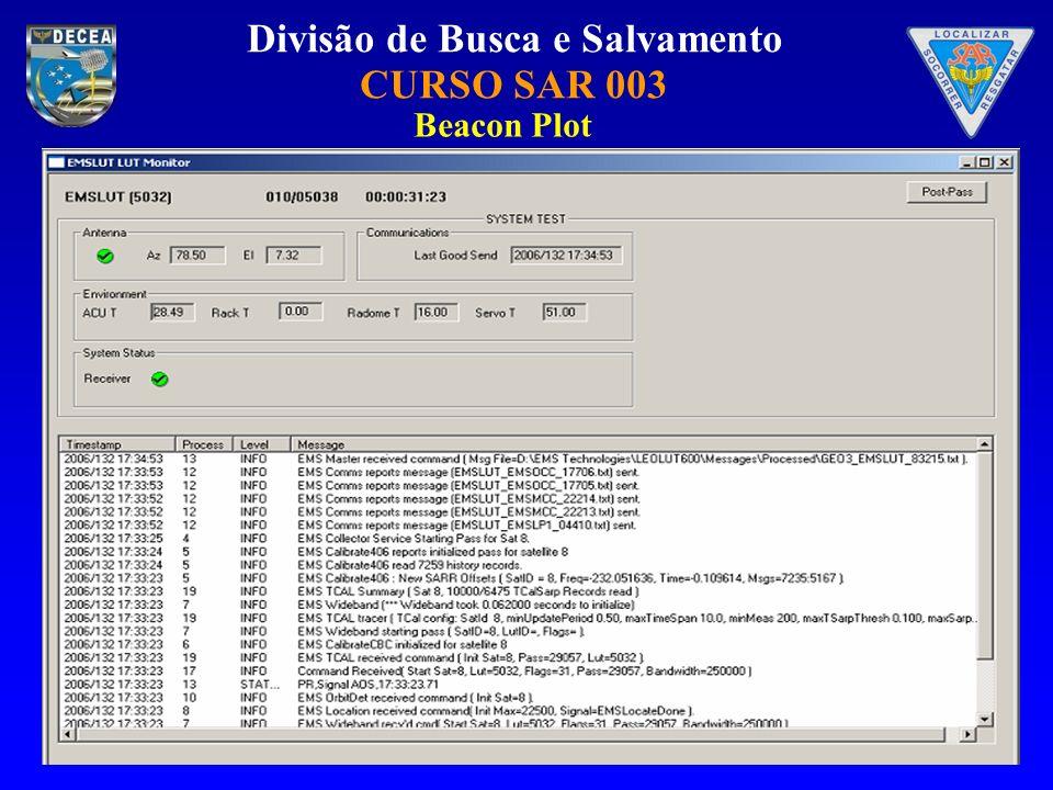 Divisão de Busca e Salvamento CURSO SAR 003 Beacon Plot