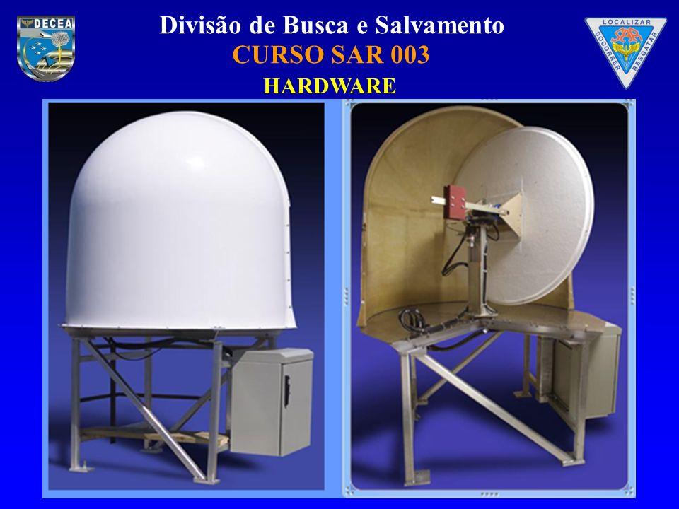 Divisão de Busca e Salvamento CURSO SAR 003 As janelas de beacons ativos de 406 e de 121.5/tem as seguintes colunas: Type – tipo de dados 121, 243, INT, 406 SARP, ORB or TEST A/B – tipo da solução Beacon ID – código hexadecimal do beacon ou dia Juliano e hora Detection Time – hora da primeira detecção (UTC) #MSG – número da passagem em que o beacon foi detectado Latitude (degN) – latitude do beacon em graus decimais(positivos para norte, negativos para sul) Longitude (degE) – longitude do beacon em graus decimais (positivos para leste, negativos para oeste) LUT ID – número de identificação da LUT para o Cospas-Sarsat Satellite ID – número de identificação do satélite Power (dBm) – Potência estimada do sinal relativa a 1.0 milliwatts Frequency (Hz) – freqüência do sinal Error (km) –.