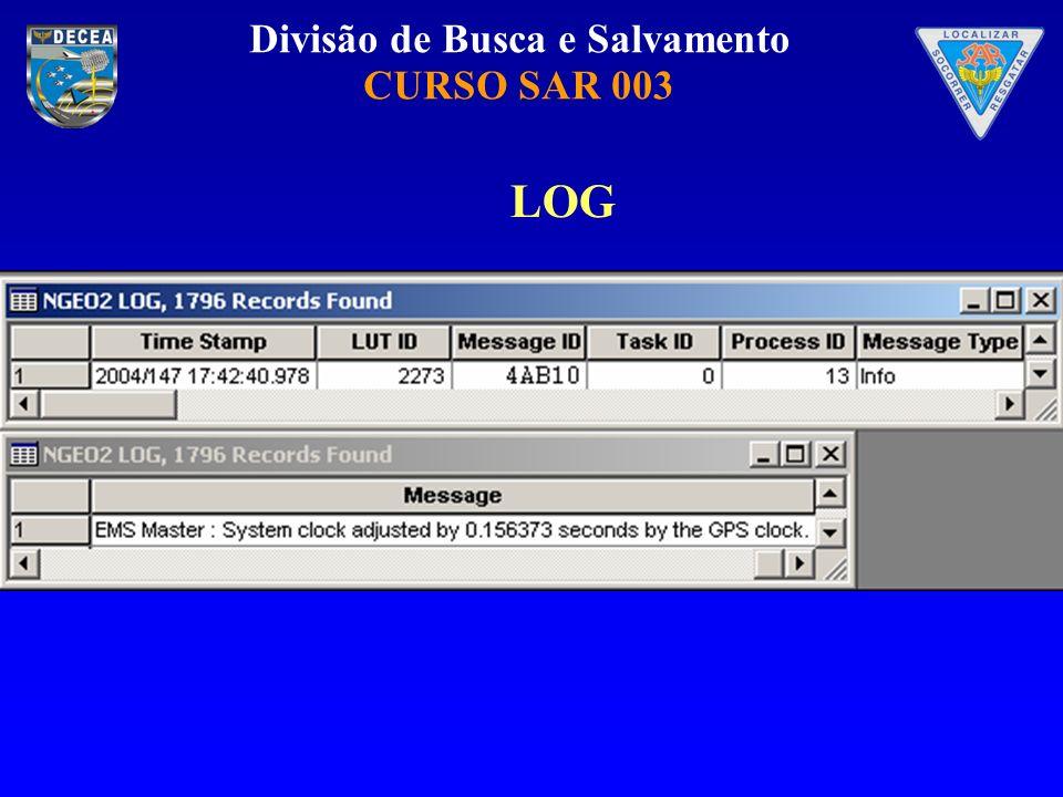 Divisão de Busca e Salvamento CURSO SAR 003 LOG