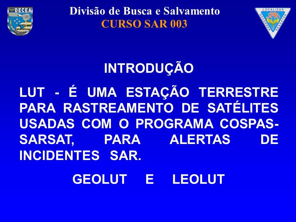 Divisão de Busca e Salvamento CURSO SAR 003 GEOLUT Data Table Views Alarms