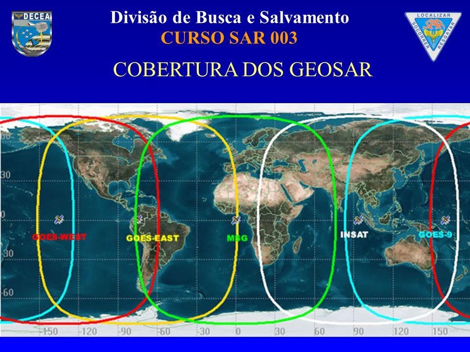Divisão de Busca e Salvamento CURSO SAR 003 AS GEOLUT RECEBEM OS DADOS DE 406 MHZ ENVIADOS DOS SATÉLITES EM ÓRBITAS GEOESTACIONÁRIAS (GEOSAR).