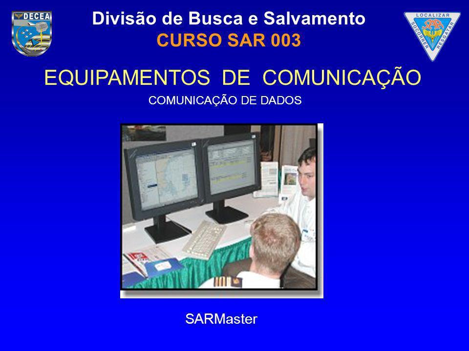 Divisão de Busca e Salvamento CURSO SAR 003 EQUIPAMENTOS DE COMUNICAÇÃO SARMaster COMUNICAÇÃO DE DADOS