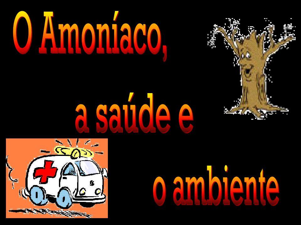Para ser armazenado e transportado, o amoníaco é liquefeito.