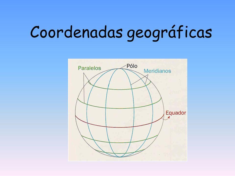 Como localizar um ponto à superfície da Terra.