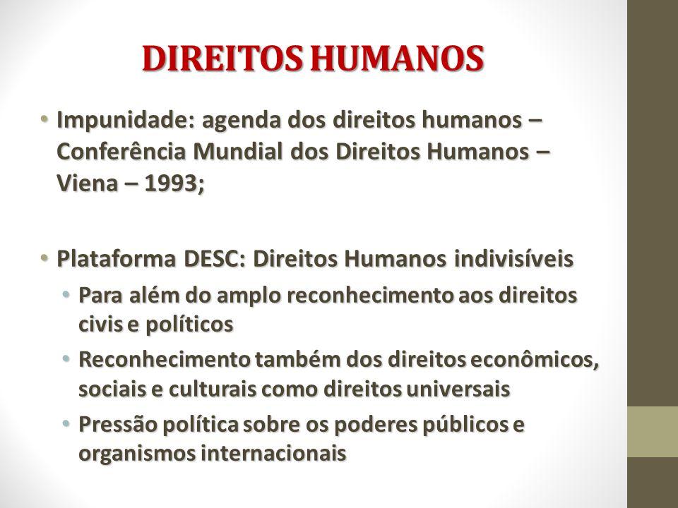 Impunidade: agenda dos direitos humanos – Conferência Mundial dos Direitos Humanos – Viena – 1993; Impunidade: agenda dos direitos humanos – Conferênc