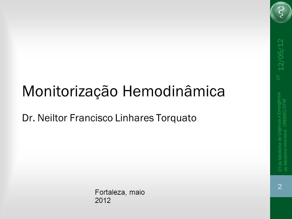 2 CT de Medicina de Urgência e Emergência CT de Medicina Intensiva - CREMEC/CFM Monitorização Hemodinâmica Dr. Neiltor Francisco Linhares Torquato For