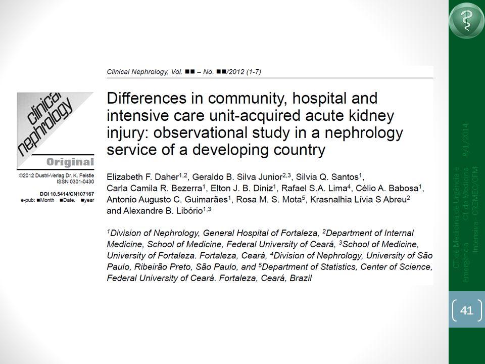 41 CT de Medicina de Urgência e Emergência CT de Medicina Intensiva - CREMEC/CFM 8/1/2014
