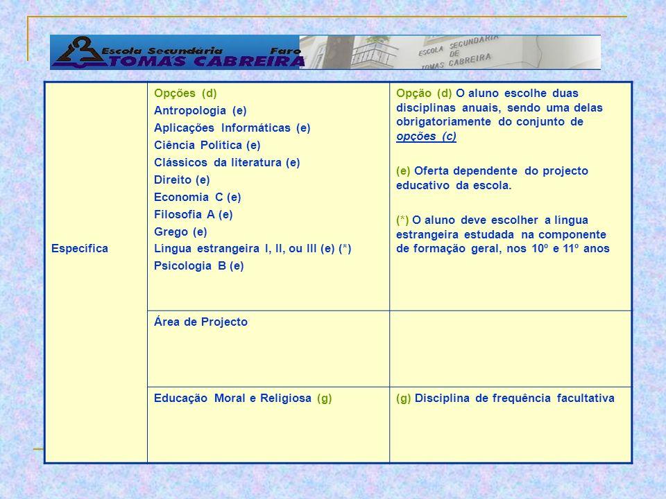 COMPONENTE DE FORMAÇÃO DISCIPLINAS GeralPortuguês Língua Estrangeira I, II, ou III (a) Filosofia Educação Física (a) O aluno escolhe uma língua estran