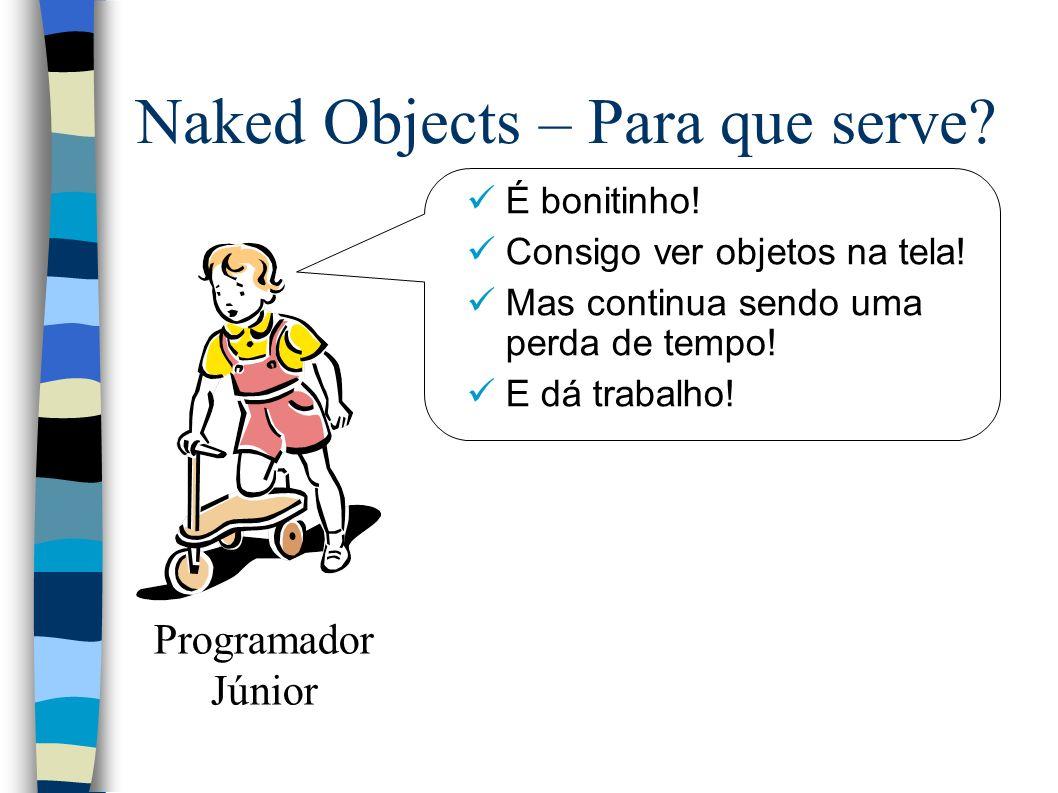Naked Objects – Para que serve. É bonitinho. Consigo ver objetos na tela.