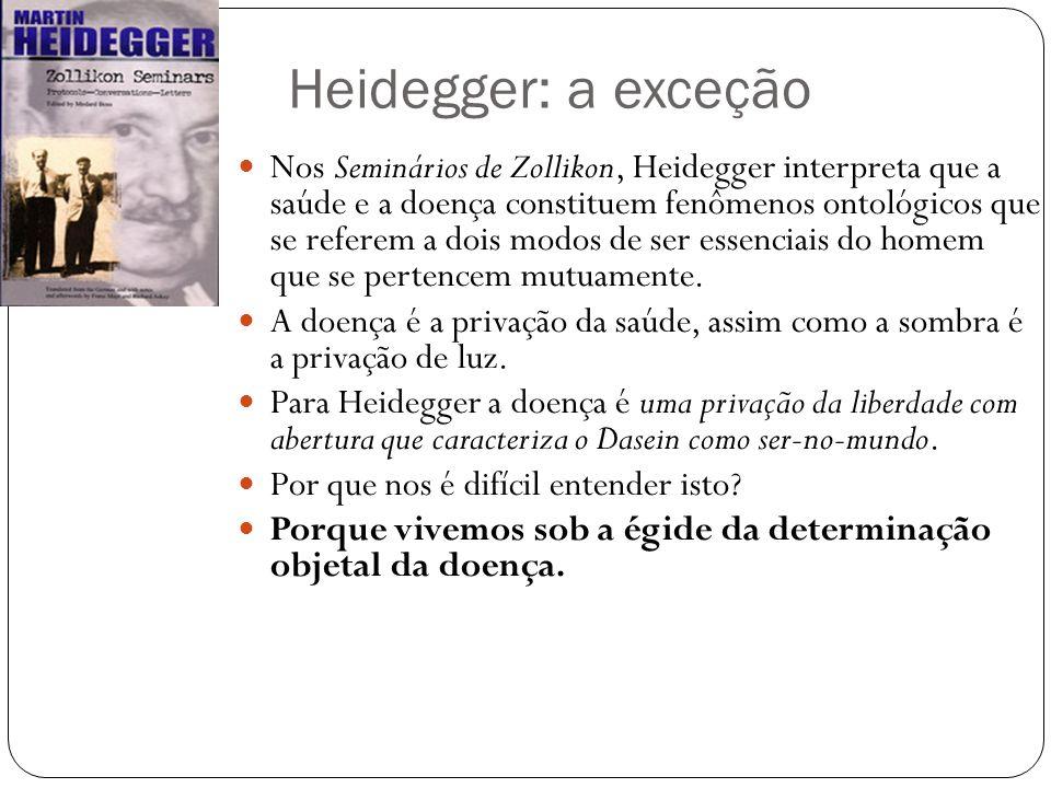 A determinação histórica do ser dos entes em sua totalidade (Heidegger) Os conceitos de saúde e de doença dependem das três respostas que foram dadas pelos filósofos à questão: o que são os entes do mundo em sua totalidade.