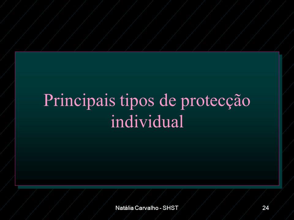 Natália Carvalho - SHST24 Principais tipos de protecção individual
