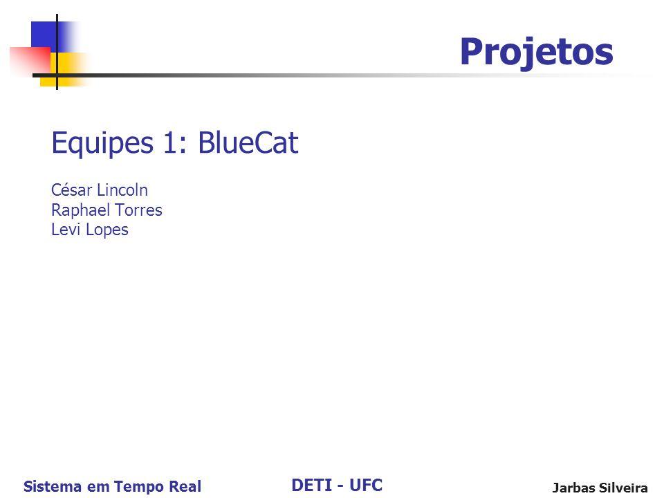 DETI - UFC Sistema em Tempo Real Jarbas Silveira Equipes 1: BlueCat César Lincoln Raphael Torres Levi Lopes Projetos