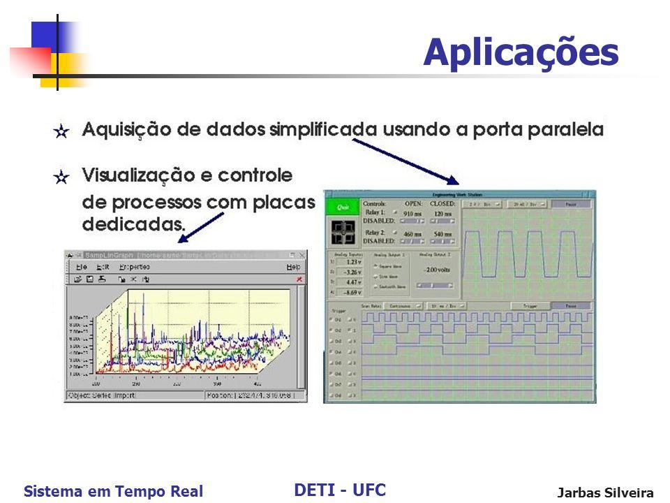 DETI - UFC Sistema em Tempo Real Jarbas Silveira Aplicações