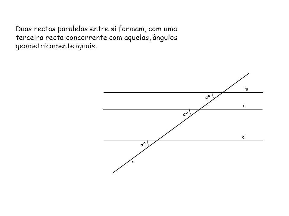 Ângulo entre Duas Rectas Horizontais Concorrentes Pretende-se a V.G.