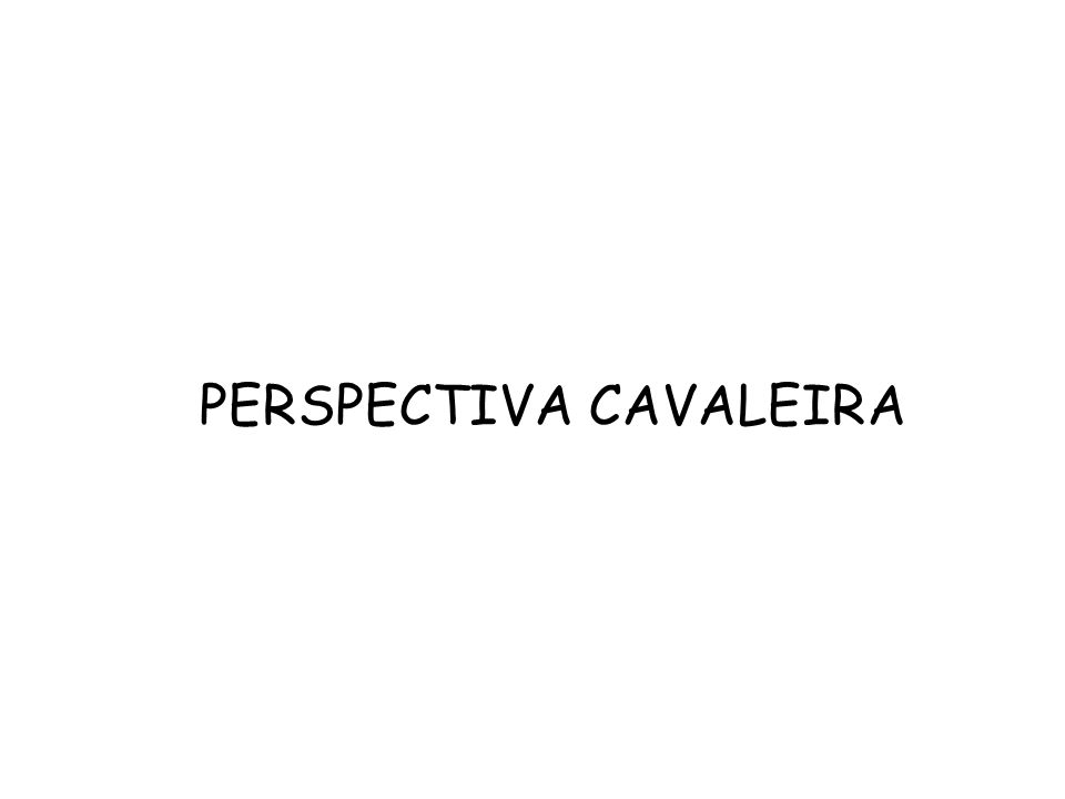 PERSPECTIVA CAVALEIRA