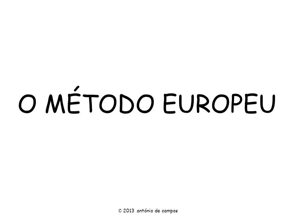 O MÉTODO EUROPEU © 2013 antónio de campos