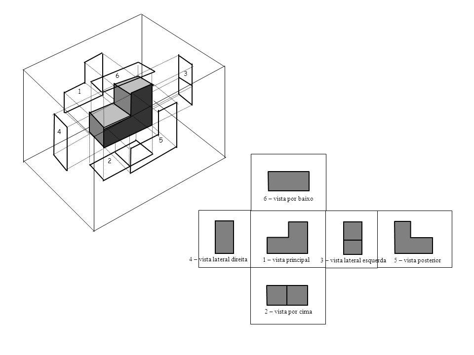 1 4 5 3 2 6 1 – vista principal 6 – vista por baixo 2 – vista por cima 3 – vista lateral esquerda 4 – vista lateral direita 5 – vista posterior