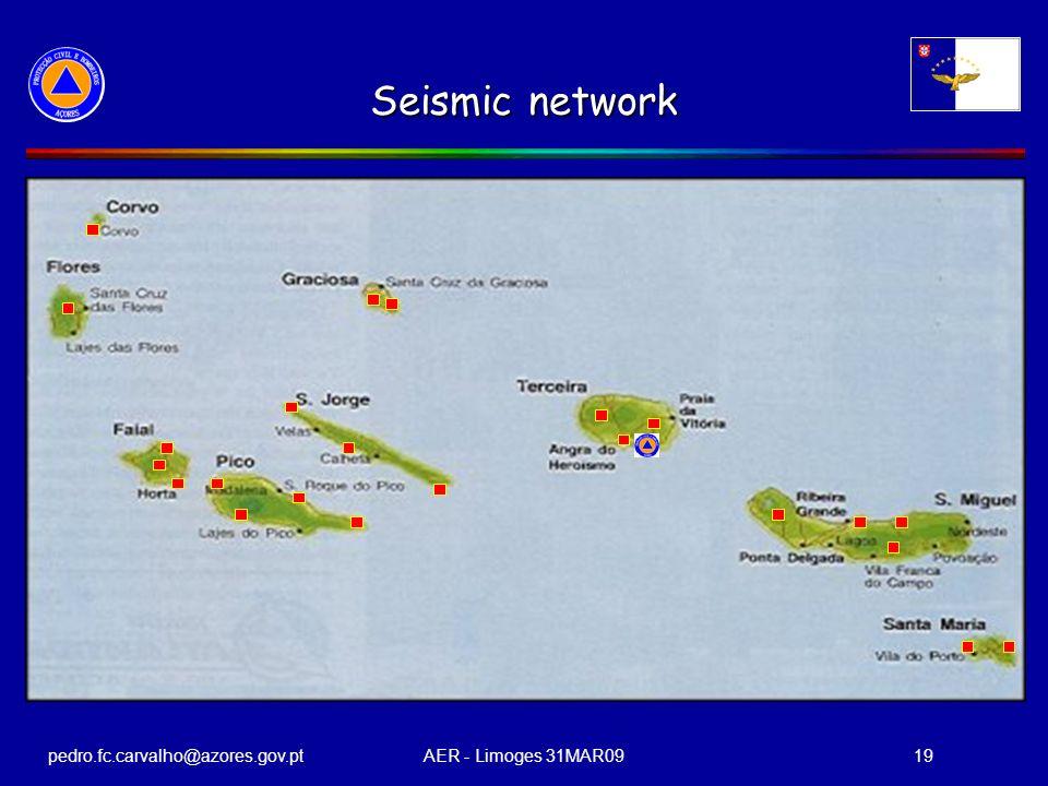 pedro.fc.carvalho@azores.gov.ptAER - Limoges 31MAR0919 Seismic network