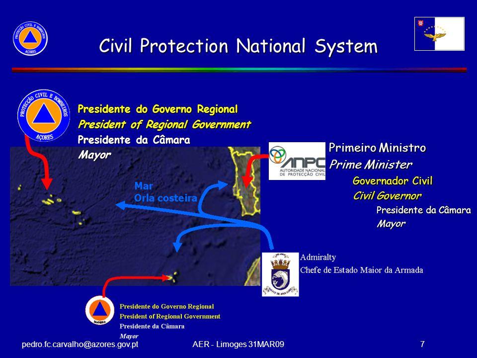 pedro.fc.carvalho@azores.gov.ptAER - Limoges 31MAR097 Civil Protection National System Primeiro Ministro Prime Minister Governador Civil Civil Governo