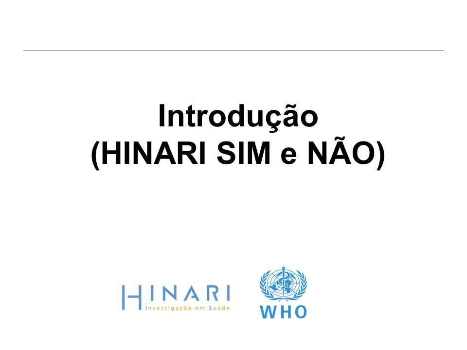 Introdução (HINARI SIM e NÃO)