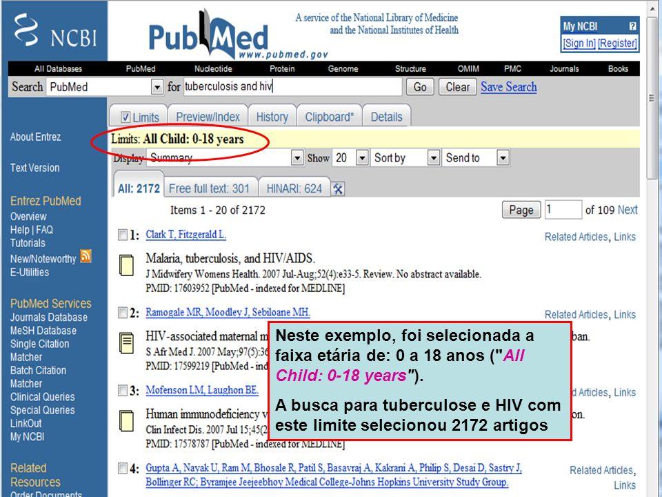 Types of Article A busca pode ser limitada a um tipo específico de artigo ( Type of Article Limits ).
