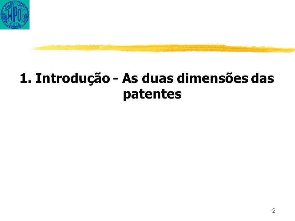 2 1. Introdução - As duas dimensões das patentes