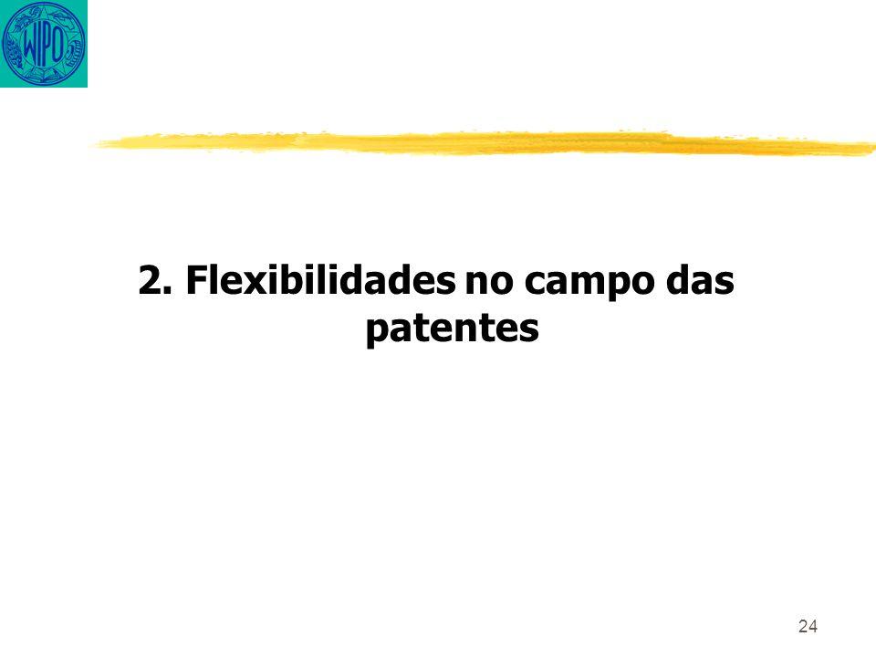 24 2. Flexibilidades no campo das patentes