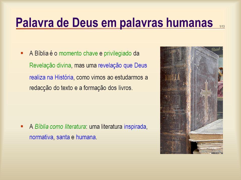 1.A Revelação divina 2.Os livros da Bíblia 3.A integridade da Bíblia 4.Livros inspirados e verdade da Bíblia 5.O cânone das Escrituras 6.Santidade e u