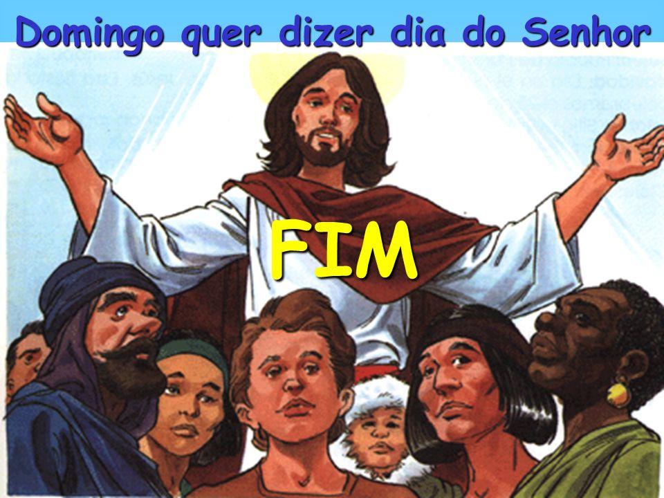 Os cristãos sabem que são filhos de Deus e membros da sua família Celebram o domingo assistindo à Santa Missa