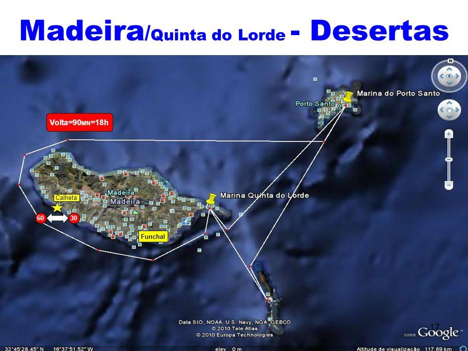 Madeira / Quinta do Lorde - Desertas 17 Volta=90 MN =18h Calheta Funchal 6030