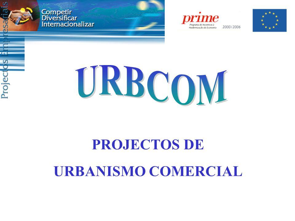 PROJECTOS DE URBANISMO COMERCIAL