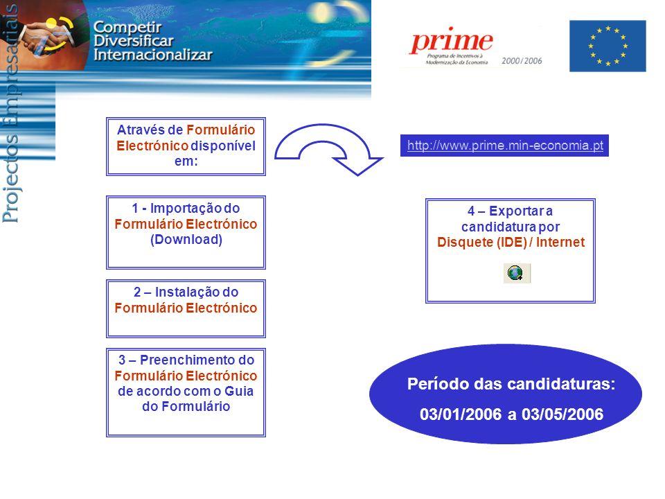 3 – Preenchimento do Formulário Electrónico de acordo com o Guia do Formulário 1 - Importação do Formulário Electrónico (Download) Através de Formulár