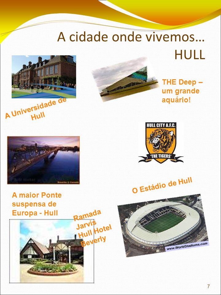 A cidade onde vivemos… HULL A Universidade de Hull THE Deep – um grande aquário! Ramada Jarvis Hull Hotel Beverly A maior Ponte suspensa de Europa - H