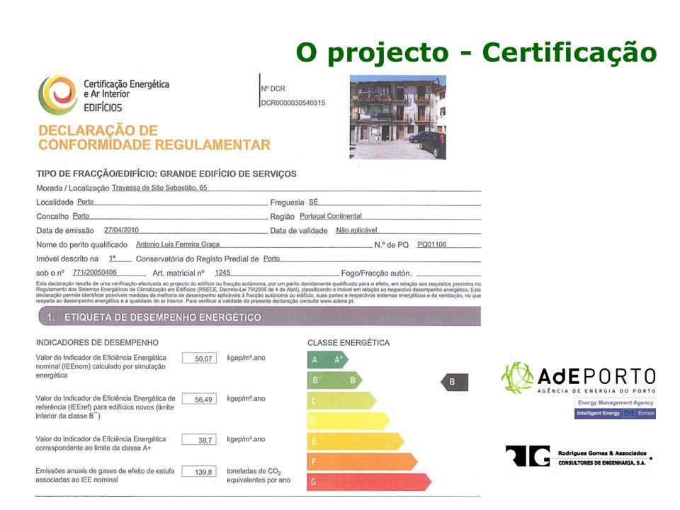 O projecto - Certificação