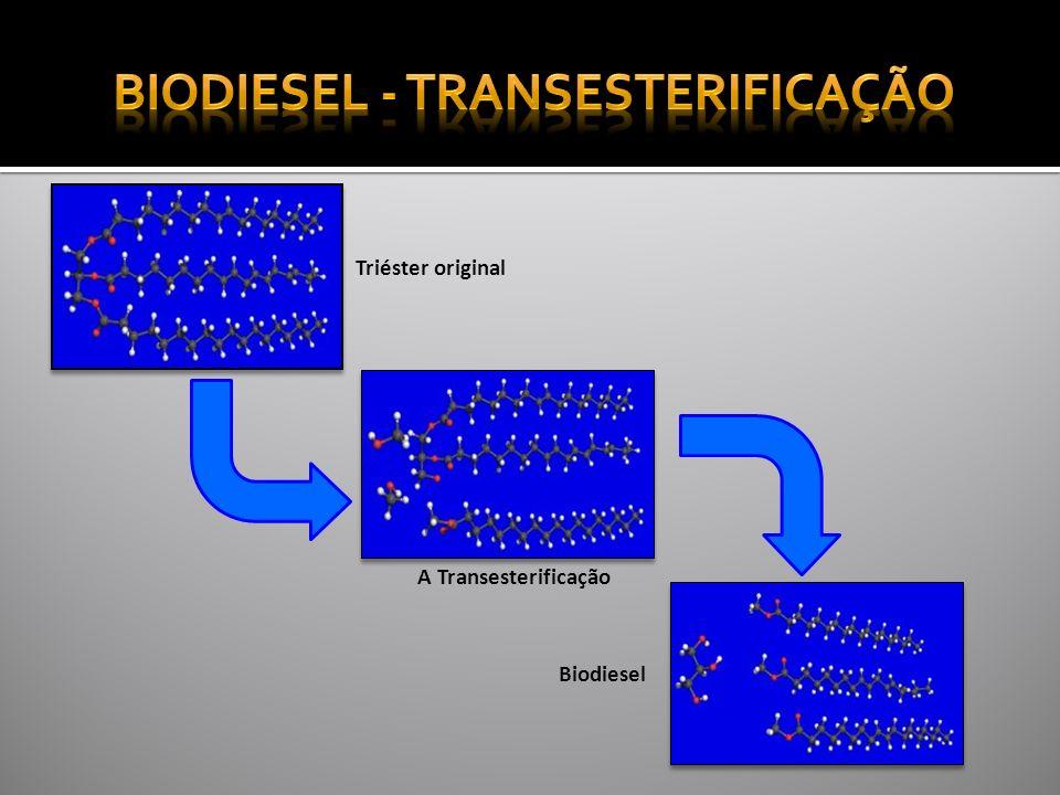 Triéster original A Transesterificação Biodiesel