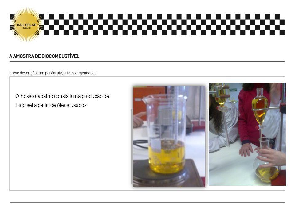 6ª ETAPA SECAGEM E FILTRAÇÃO DO BIODIESEL LAVADO A secagem e filtração do biodiesel lavado é idêntica ao procedimento seguido na primeira etapa (secagem do óleo usado).